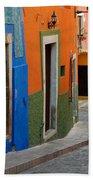 Colorful Street, Mexico Bath Towel
