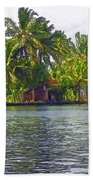 Cottage In The Midst Of Greenery Bath Towel