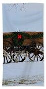 Country Christmas Bath Towel
