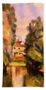 Country House By A River Bath Towel