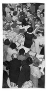 Crowds In Ohrbach's Store Bath Towel