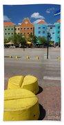 Curacaos Colorful Architecture Bath Towel