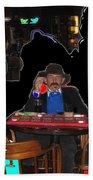 Doc Holliday Teaching Faro Crystal Palace Saloon Tombstone Arizona 2004  Bath Towel