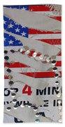 1 Dollar For Four Minutes Sign Telephone American Flag Eloy Arizona 2005 Bath Towel