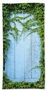 Door Framed By Plants Bath Towel