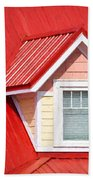Dormer Window On Red Roof Bath Towel