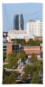 Downtown Knoxville Tennessee Skyline Bath Towel