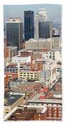 Downtown Skyline Of Louisville Kentucky Bath Towel