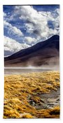 Dusty Desert Road Bolivia Bath Towel