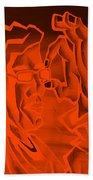 E Vincent Orange Bath Towel
