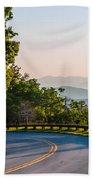 Early Morning Sunrise Over Blue Ridge Mountains Bath Towel