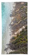East Coast Aerial Near Jekyll Island Bath Towel