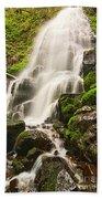 Fairy Falls In The Columbia River Gorge Area Of Oregon Bath Towel