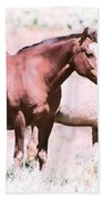 Family Of Horses Bath Towel