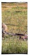 Farming With Horses Bath Towel