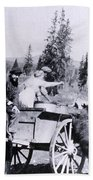 Feeding Bear Yellowstone National Park Bath Towel