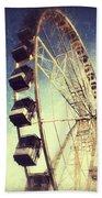 Ferris Wheel In Paris Bath Towel