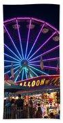Ferris Wheel Rides And Games Bath Towel