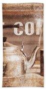 Fine Art Coffee Shop Tin Sign Insignia Bath Towel