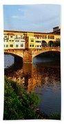 Florence Italy Ponte Vecchio Bath Towel