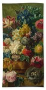 Flowers In A Vase Bath Towel