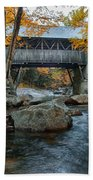 Flume Gorge Covered Bridge Bath Towel