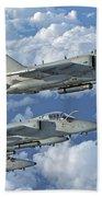 Formation Of Italian Air Force Amx-acol Bath Towel