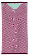 Fractal 28 Pink Gingham Shirt Bath Towel