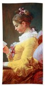 Fragonard's Young Girl Reading Bath Towel
