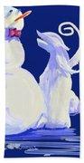 Frosty Blue Bath Towel