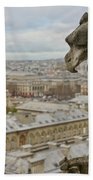 Gargoyle Overlooking Paris Bath Towel