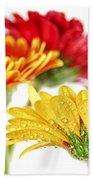 Gerbera Flowers Bath Towel