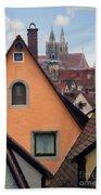 German Rooftops Impasto Bath Towel