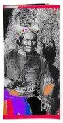 Geronimo With Pistol Ft. Sill Oklahoma Collage Circa 1910-2012 Bath Towel