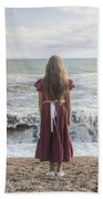 Girl On Beach Bath Towel