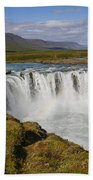 Godafoss Waterfall Bath Towel