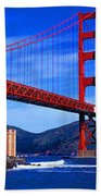 Golden Gate Bridge Panoramic View Bath Towel
