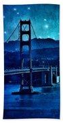 Golden Gate Bridge Night Bath Towel