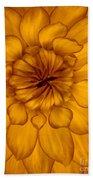 Golden Sunshine - Dahlia Bath Towel
