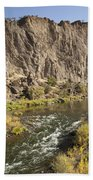 Goose Rock Above John Day River Oregon Bath Towel