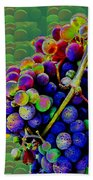 Grapes Fruit Pattern Health Background Designs  And Color Tones N Color Shades Available For Downloa Bath Towel