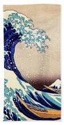 Great Wave Off Kanagawa Bath Towel