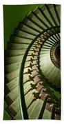 Green Spiral Staircase Bath Towel