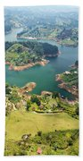 Guatape Lake Bath Towel