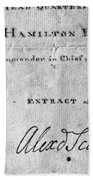 Hamilton: Appointment, 1777 Bath Towel