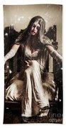 Haunting Horror Scene With A Strange Vampire Girl  Hand Towel