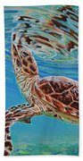 Green Turtle Hand Towel