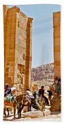Hellenistic Gateway In Petra-jordan  Bath Towel