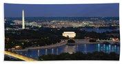 High Angle View Of A City, Washington Hand Towel