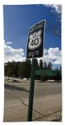 Historic Route Us 40 Sign Bath Towel